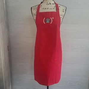 "Starbucks Apron Two Pockets ""RED"" - Has Some Marks"
